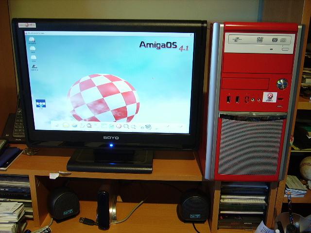 finally ready! my Sam flex@800 running OS4.1 setup