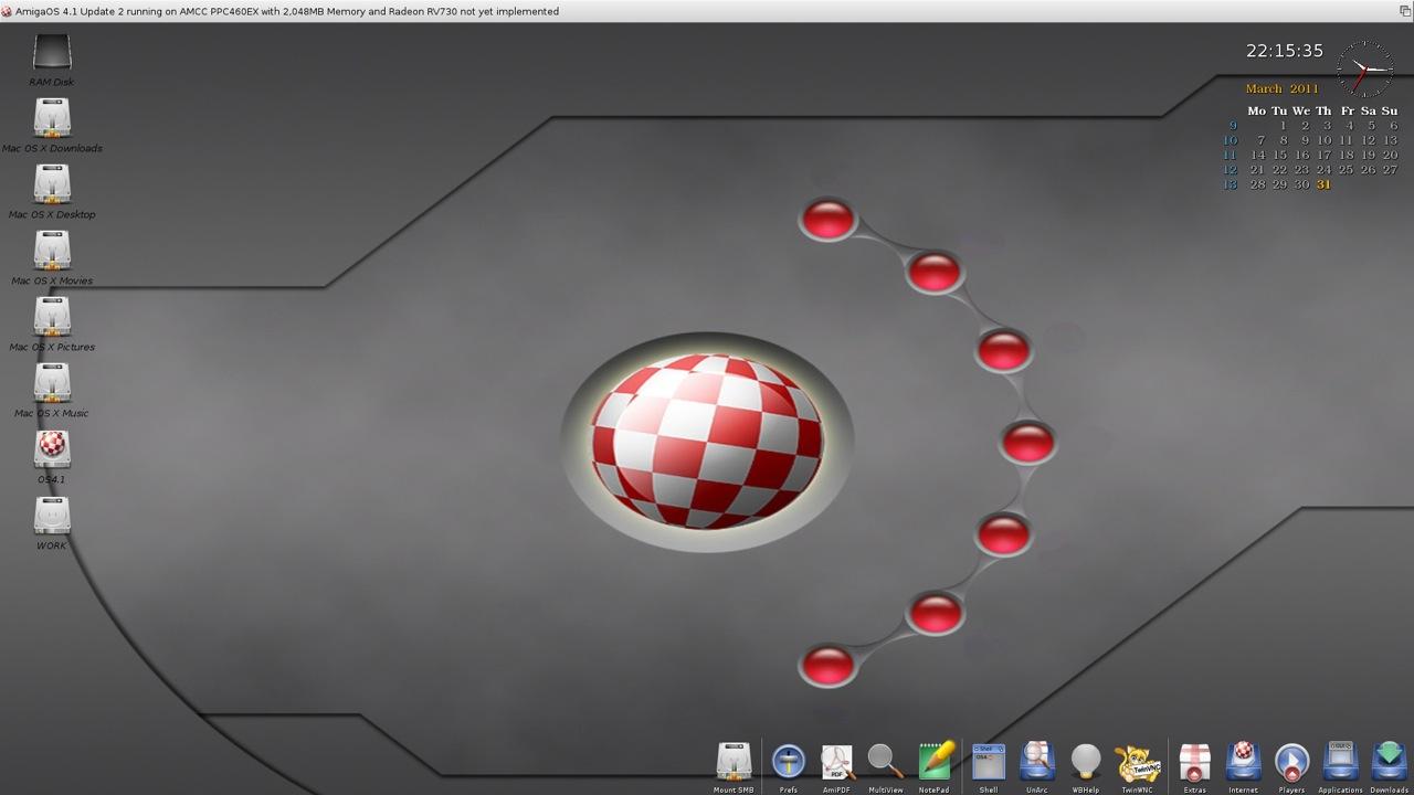 SAM 460ex AmigaOS 4.1 Workbench (1/44)