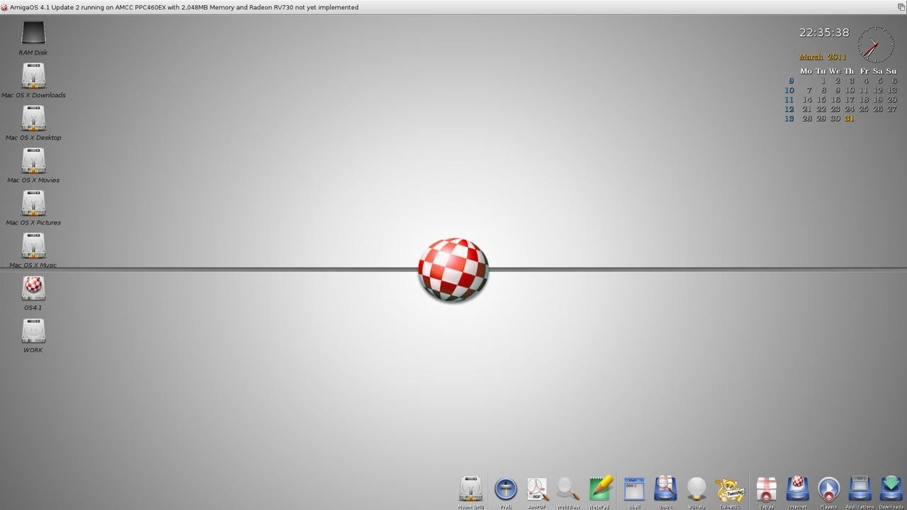 SAM 460ex AmigaOS 4.1 Workbench (44/44)