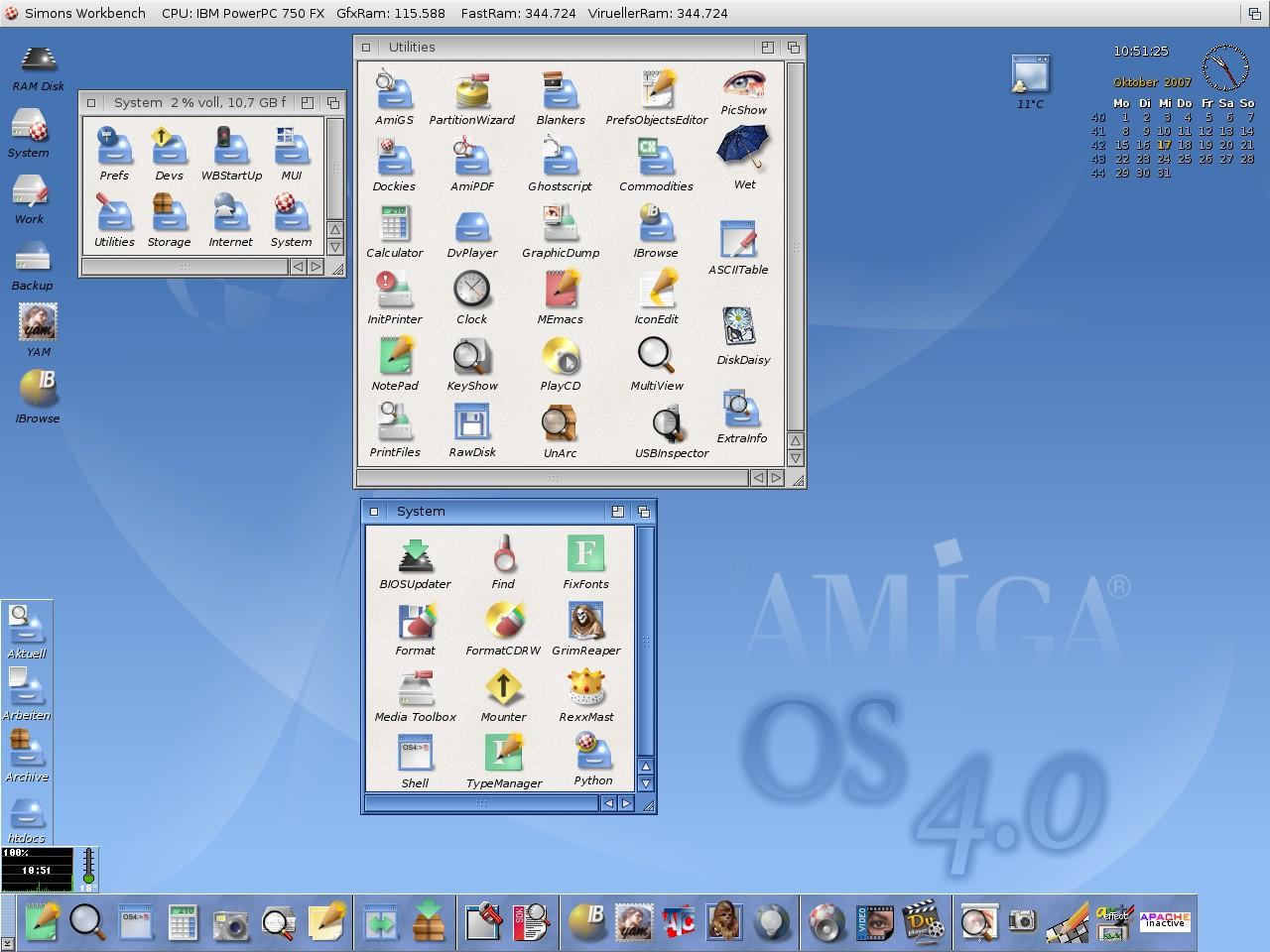 Basic AmigaOS 4.0 interface