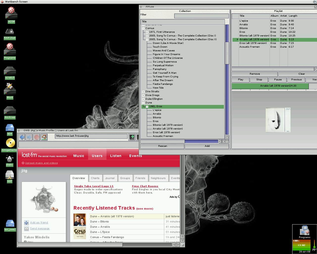 Another screenshot of WIP collection manager with OWB displaying its latest playback stats