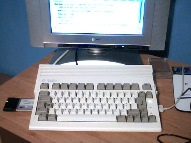 Amiga A600HD with PCMCIA Wireless Adaptor