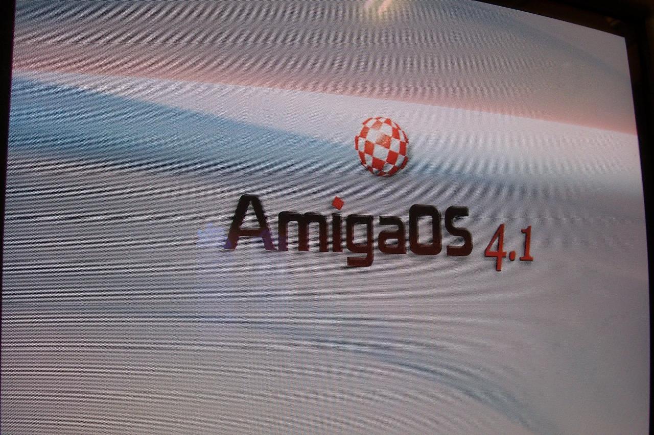 AmigaOS 4.1 boot logo
