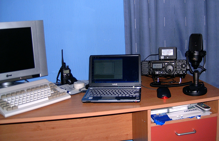 A600 with my Laptop and Radio Equipment