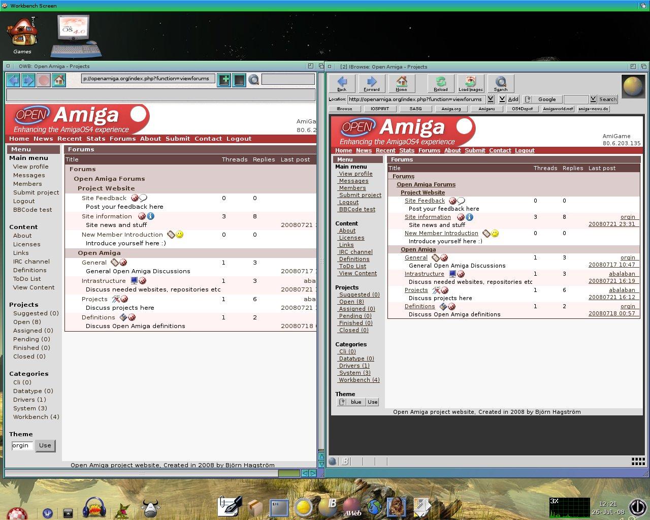 OWB 1.24 vs IBrowse 2.4