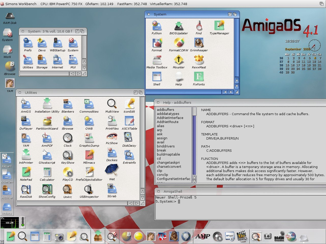 My first AmigaOS 4.1 screenshot
