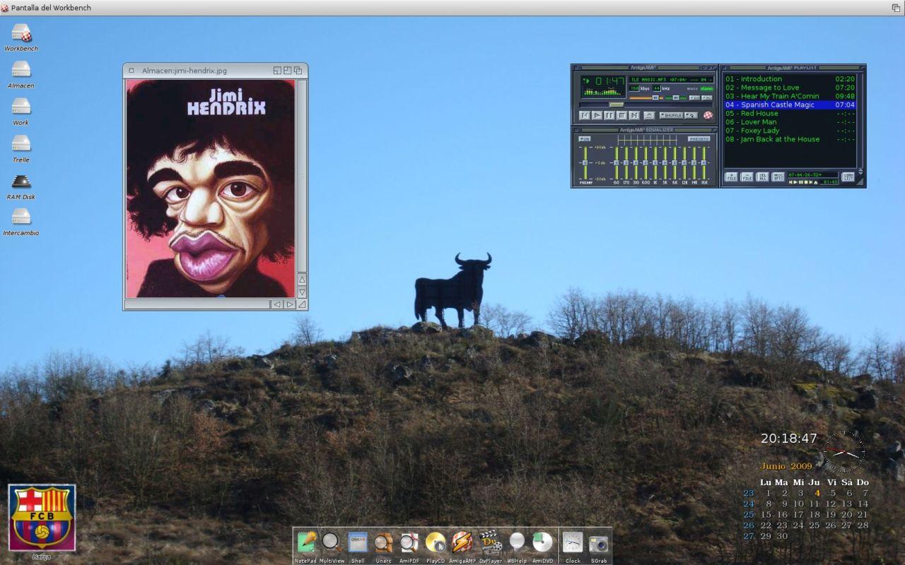 Hi Toro !!! ,   My first AmigaOS 4.1 screen  on a Sam440ep