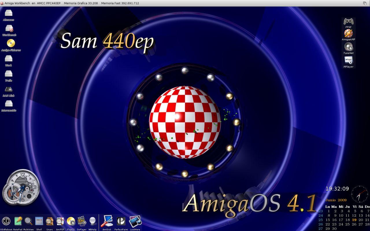 Sam440ep and AmigaOS 4.1 wallpaper