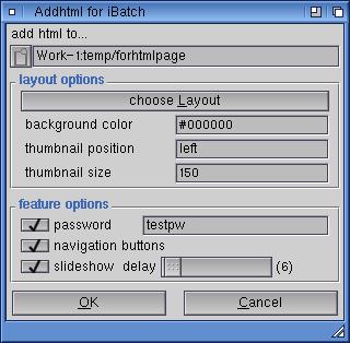 Addhtml-Plugin GUI