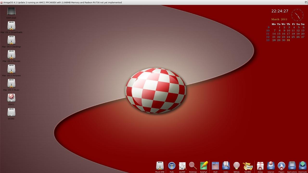 SAM 460ex AmigaOS 4.1 Workbench (2/44)