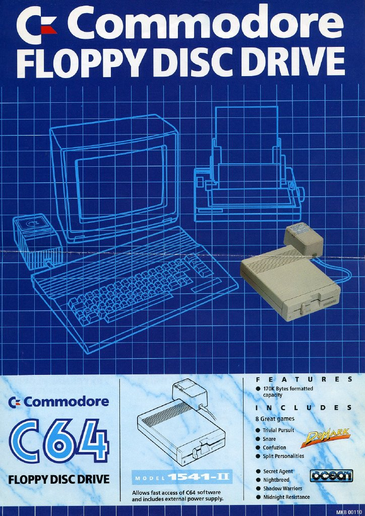 Flyer for C64 bundled with CTDV in the UK