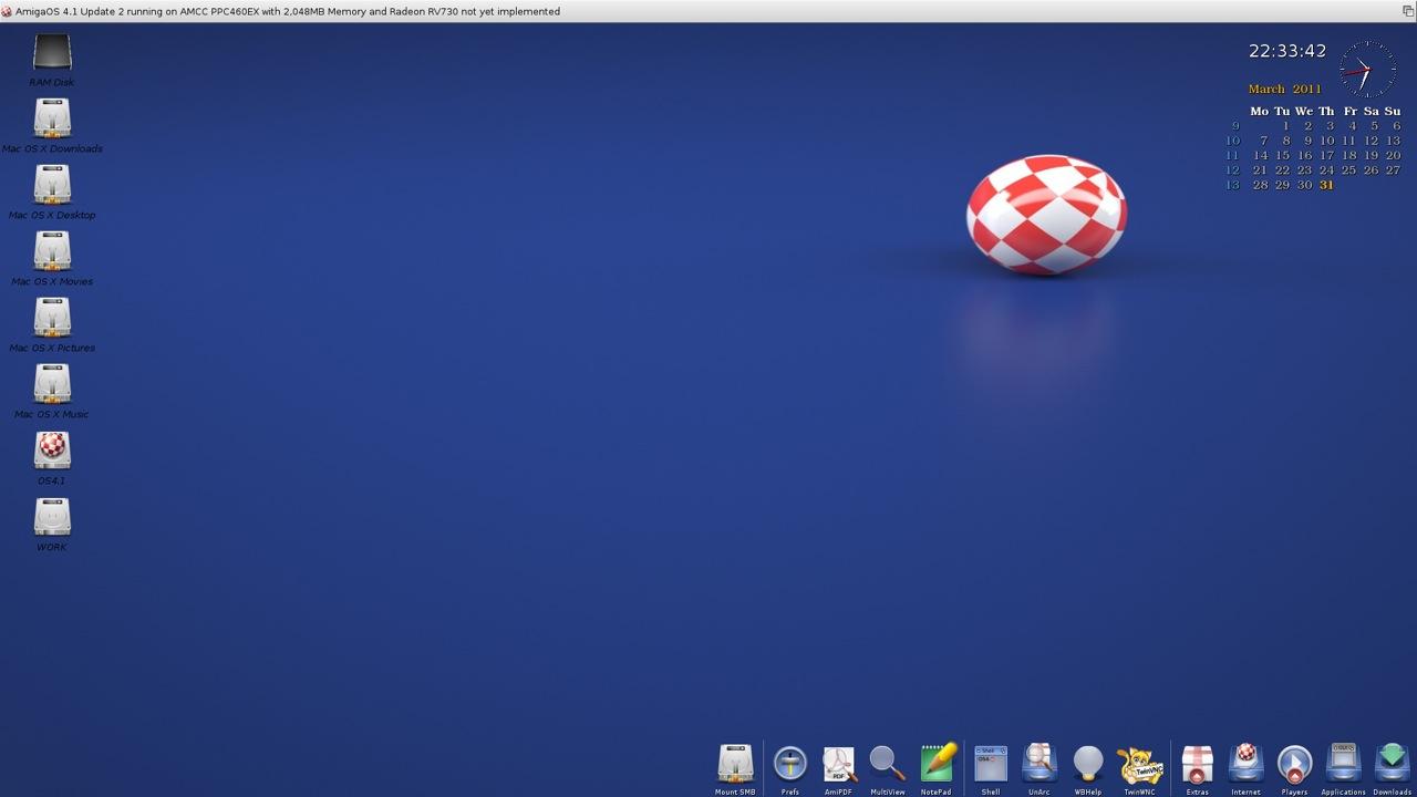 SAM 460ex AmigaOS 4.1 Workbench (4/44)