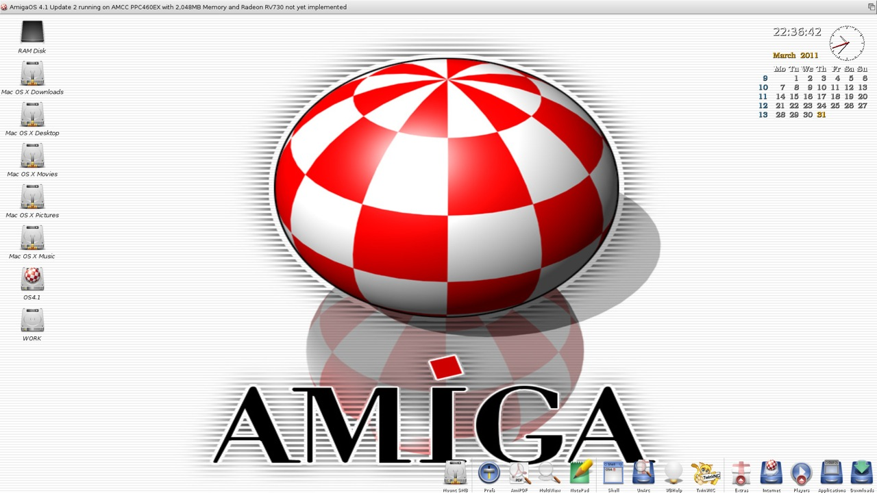 SAM 460ex AmigaOS 4.1 Workbench (7/44)