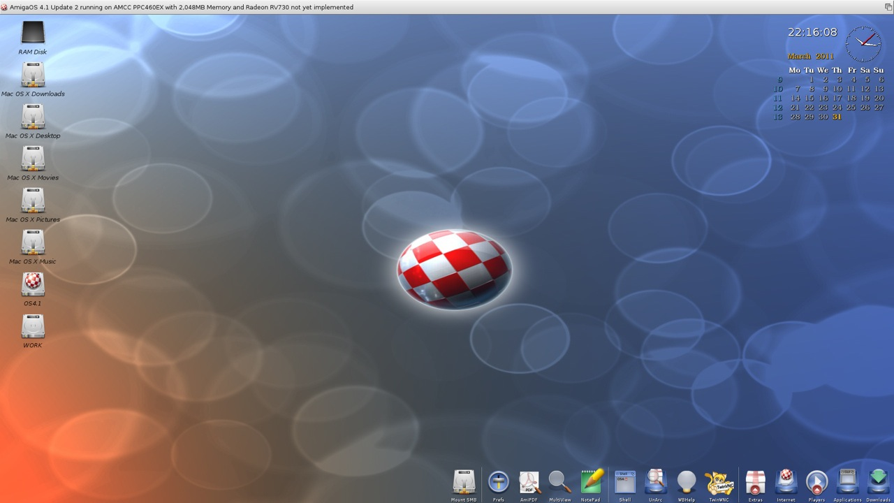 SAM 460ex AmigaOS 4.1 Workbench (10/44)