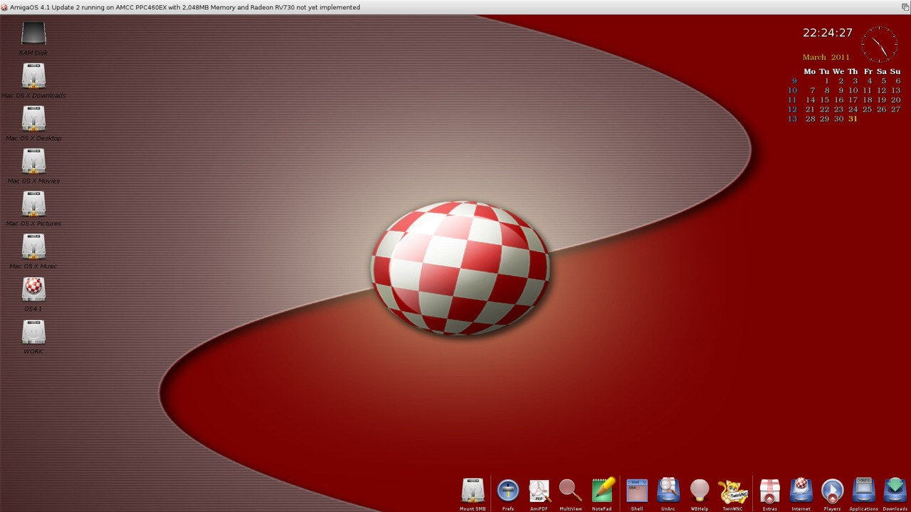 SAM 460ex AmigaOS 4.1 Workbench (21/44)