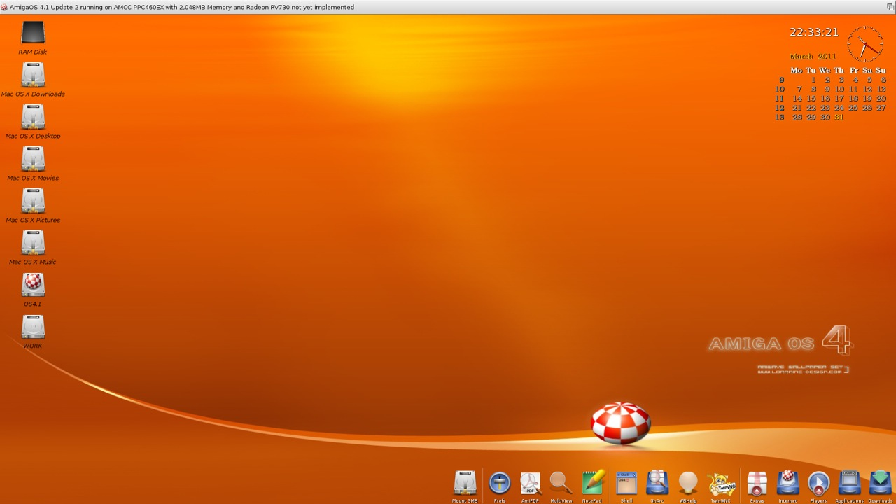 SAM 460ex AmigaOS 4.1 Workbench (39/44)