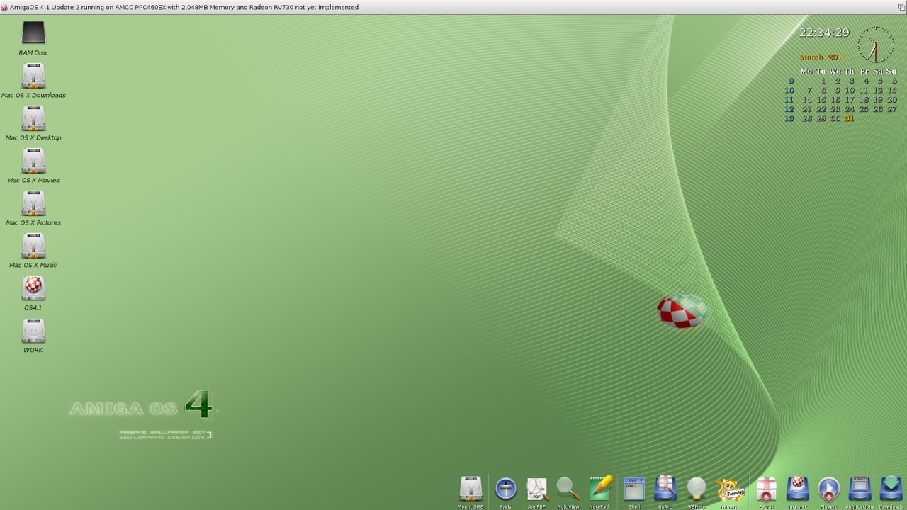 SAM 460ex AmigaOS 4.1 Workbench (41/44)