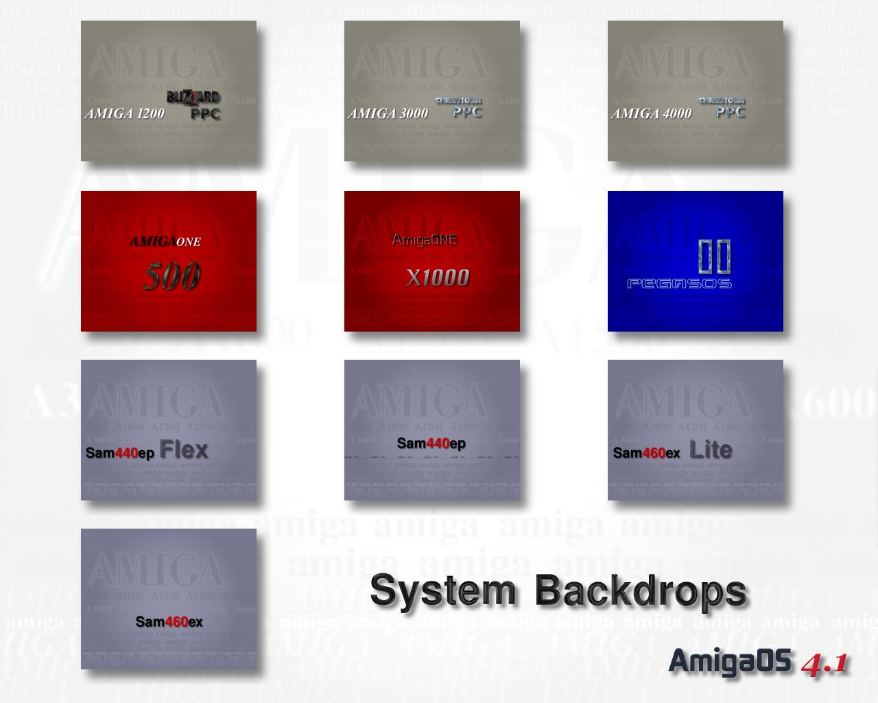AmigaOS 4.1 System Backdrops 1280x1024