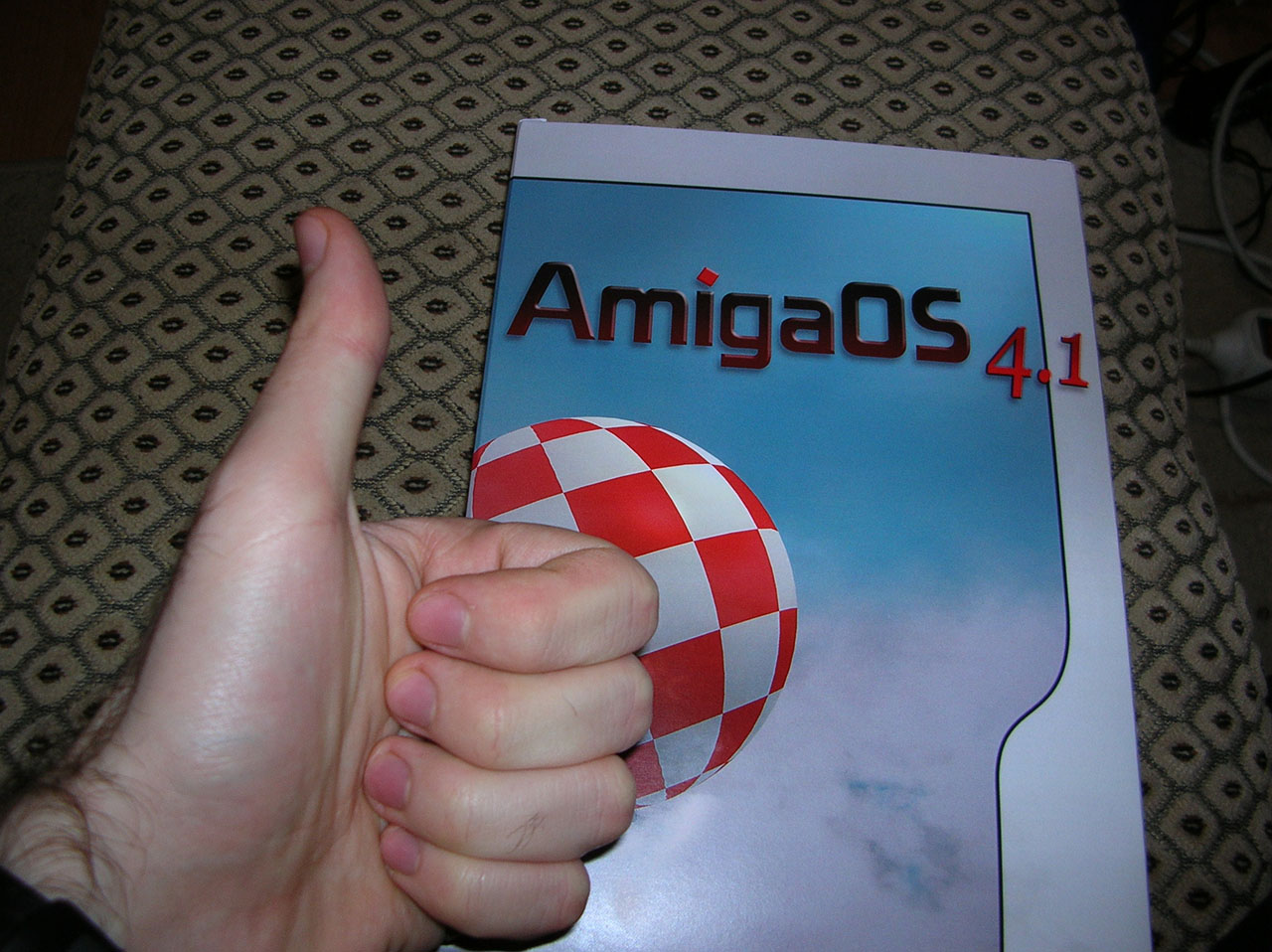 My AmigaOS 4.1 copy for the Pegasos II