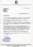 Commodore UK letter to Registered Amiga Owners